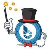 Magician BitShares coin mascot cartoon. Vector illustration Stock Image