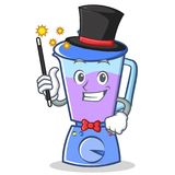 Magician blender character cartoon style Stock Image