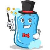 Magician blue soap character cartoon Stock Images