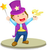 Magician boy Royalty Free Stock Images