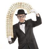 Magician businessman Stock Image