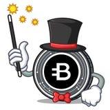Magician Bytecoin coin mascot cartoon. Vector illustration Stock Image