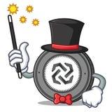 Magician Bytom coin mascot cartoon. Vector illustration Royalty Free Stock Photography