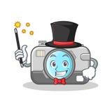 Magician camera character cartoon design Stock Photography