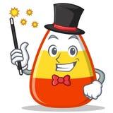 Magician candy corn character cartoon Stock Photography