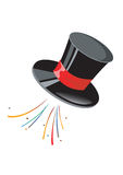 Magician cap. With colourful rays Royalty Free Stock Images