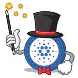 Magician Cardano coin character cartoon. Vector illustration Royalty Free Stock Photo