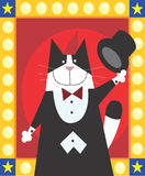 Magician Cat. Is doing magic Royalty Free Stock Image