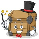 Magician chest character cartoon style Royalty Free Stock Photo