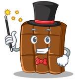 Magician chocolate character cartoon style Stock Photography