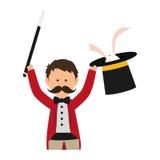 Magician circus cartoon Stock Images