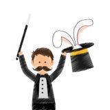 Magician circus cartoon Royalty Free Stock Photos