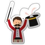 Magician circus cartoon Stock Image