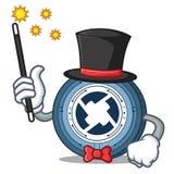 Magician 0X coin mascot cartoon. Vector illustration Royalty Free Stock Image