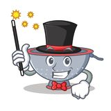 Magician colander utensil character cartoon Royalty Free Stock Image