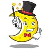 Magician crescent moon character cartoon Stock Photography