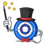 Magician Cryptonex coin mascot cartoon. Vector illustration Stock Photos