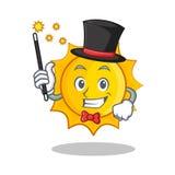 Magician cute sun character cartoon Royalty Free Stock Photos
