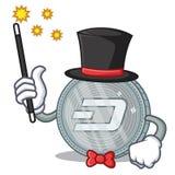 Magician Dash coin character cartoon. Vector illustration Royalty Free Stock Photos