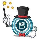 Magician DigixDAO coin mascot cartoon. Vector illustration Stock Images