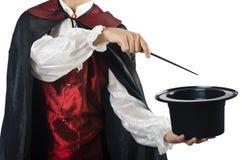 Magician doing tricks Royalty Free Stock Photos