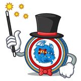 Magician Dragonchain coin mascot cartoon. Vector illustration Royalty Free Stock Photos
