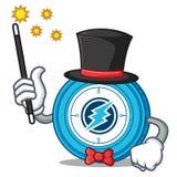 Magician Electroneum coin mascot cartoon. Vector illustration Stock Photography