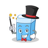 Magician eraser character mascot style Stock Images