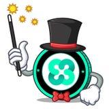 Magician Ethos coin mascot cartoon. Vector illustration Stock Images