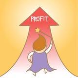 Magician get profit up Stock Photography