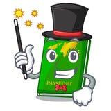 Magician green passport on the mascot table. Vector illustration vector illustration