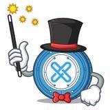 Magician Gxshares coin mascot cartoon. Vector illustration Stock Photos