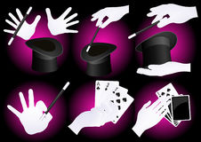 Magician hands Royalty Free Stock Images