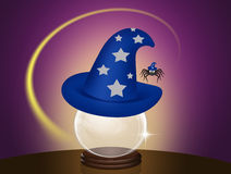 Magician hat. Funny illustration of magician hat Stock Photos