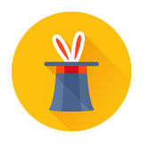 Magician hat with rabbit ears icon Royalty Free Stock Photography
