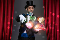 Magician have magic in his hands Royalty Free Stock Image