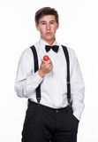 A Magician holding a ball Stock Photos