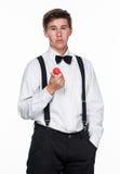 A Magician holding a ball Stock Photos