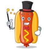 Magician Hot Dog Cartoon Character Royalty Free Stock Photography