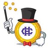 Magician Hshare coin mascot cartoon. Vector illustration Stock Photo