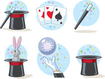 Magician Icons Stock Photo