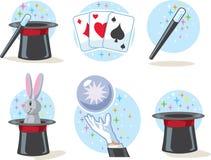 Magician Icons Stock Photo