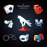 Magician icons Royalty Free Stock Image