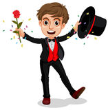 Magician. Illustration of a magician doing a performance Royalty Free Stock Image