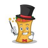 Magician kebab wrap character cartoon. Vector art royalty free illustration