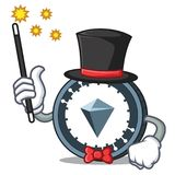 Magician KuCoin Shares mascot cartoon. Vector illustration Stock Photos