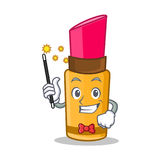 Magician lipstick character cartoon style Stock Image