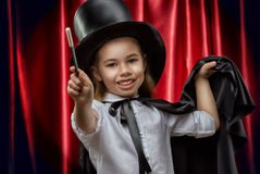 Magician. The little magician does tricks Stock Images