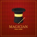 Magician logo, circus design, vector illustration Stock Photo