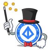 Magician loopring coin mascot cartoon. Vector illustration Stock Photos